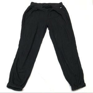 ROXY black cropped linen pants